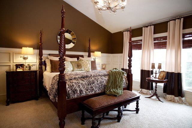 Best Master Bedroom Cream And Brown Traditional Bedroom With Pictures