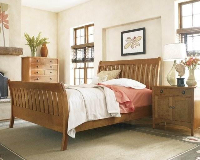 Best Stickley Mission Sleigh Bed Craftsman Bedroom Other With Pictures
