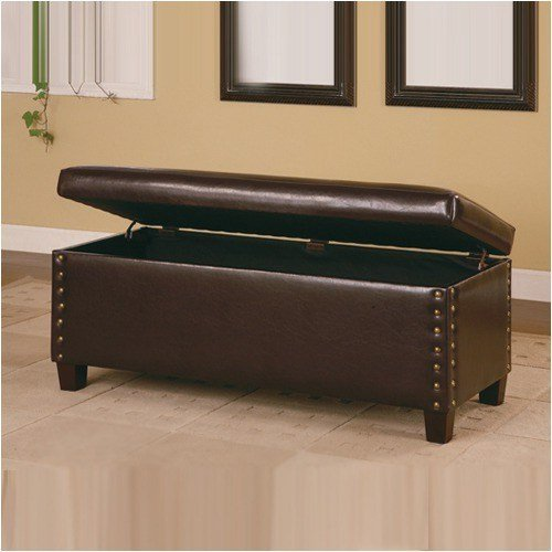 Best Broadbent Leather Storage Bench Modern Accent And With Pictures