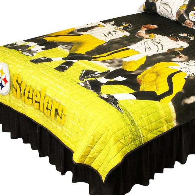 Best Pittsburgh Steelers Twin Full Comforter Set Play Action With Pictures