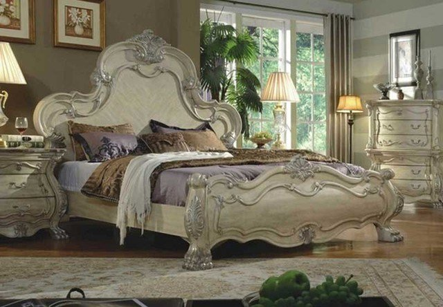 Best Mcferran Home Furnishing 5 Piece White Bedroom Set With Pictures