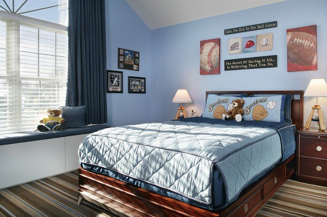 Best Baseball Bedroom Contemporary Kids Newark By With Pictures