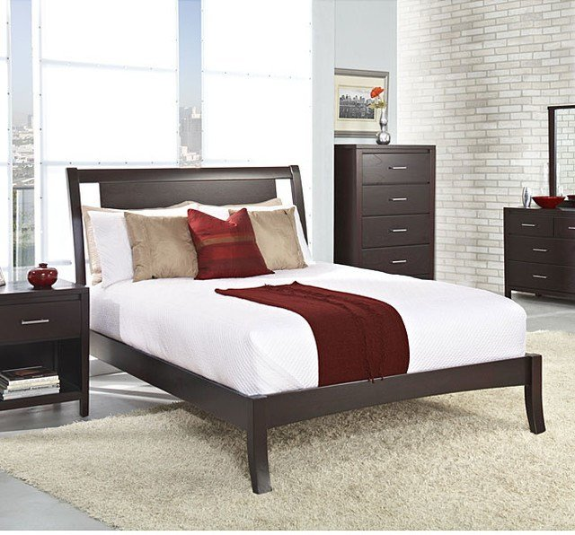 Best Floating Panel Full Size Sleigh Bed Contemporary With Pictures