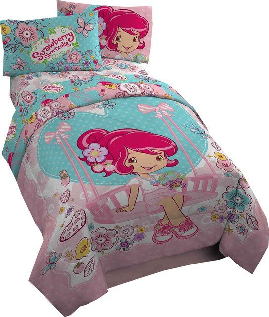 Best Strawberry Shortcake Twin Comforter Simply Sweet Bedding Contemporary Kids Bedding By Obedding With Pictures