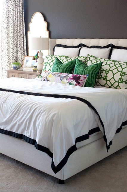 Best Modern Black White Green Bedroom With Pictures