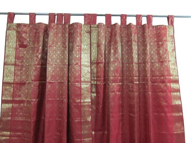 Best Indian Sari Curtains Dark Red Saree Curtain India Drapes With Pictures