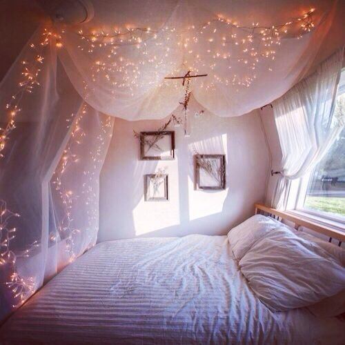 Best Fairy Lights Bedroom White Dorm Room Inspiration With Pictures