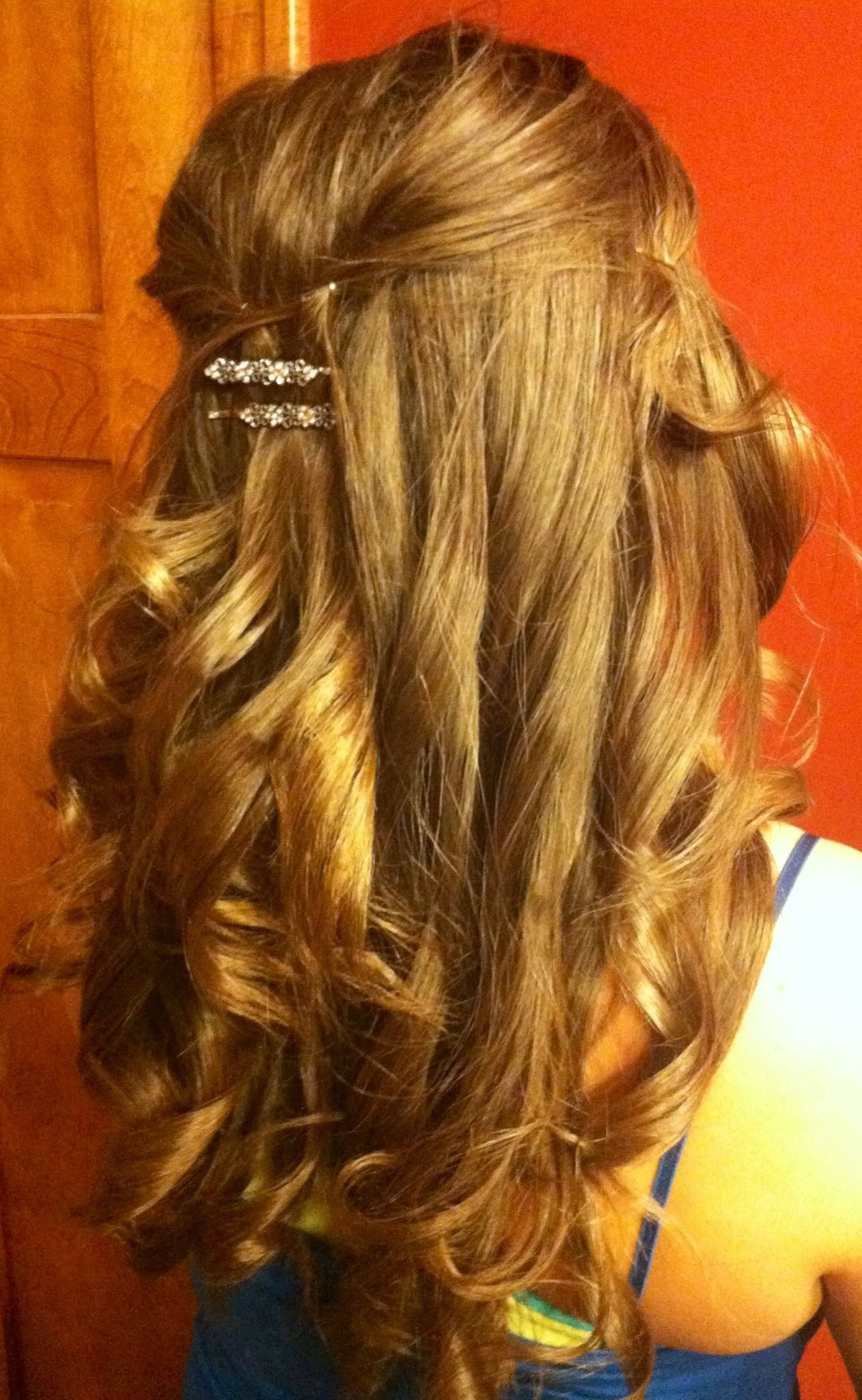 Free Partial Updo Hairstyles Pinterest Wallpaper