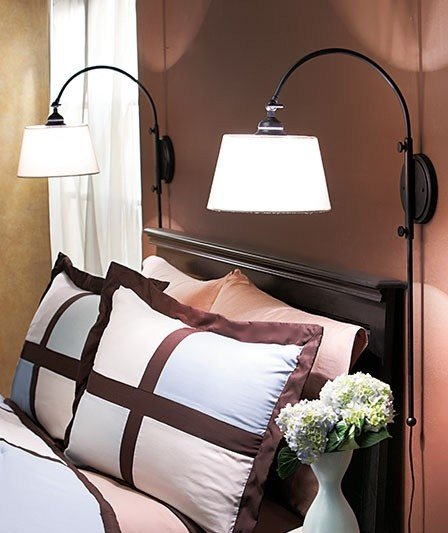 Best One 1 New Adjustable Bedside Wall Lamp Black Reading With Pictures