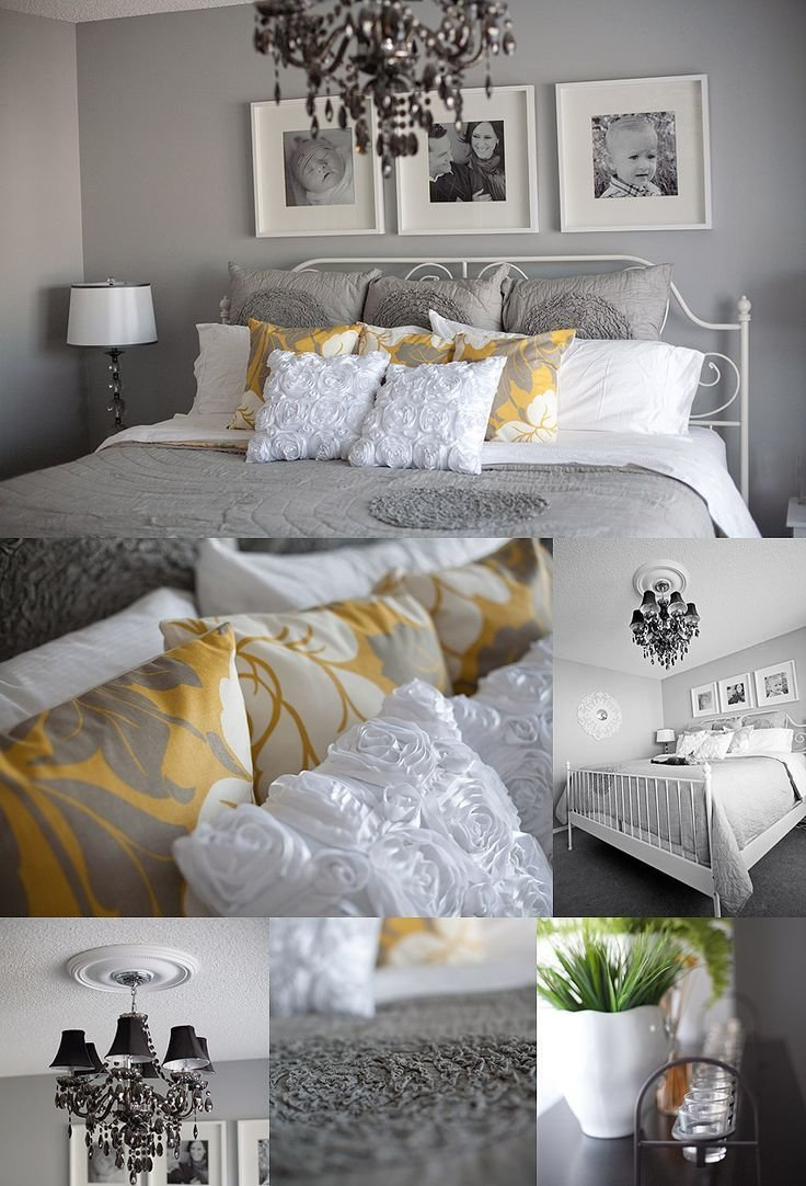 Best Grey White And Yellow Master Bedroom Ideas Pinterest With Pictures