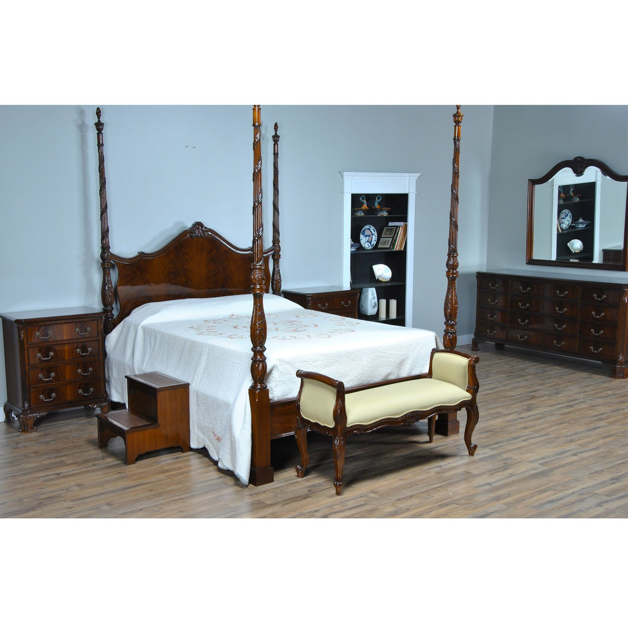 Best Mahogany Queen Size Four Poster Bed Nbr019Q With Pictures