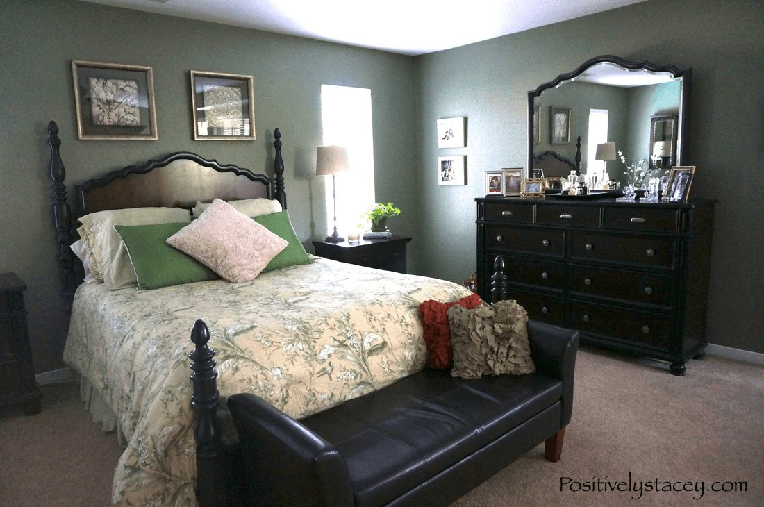 Best Painting Our Master Bedroom Green Positively Stacey With Pictures