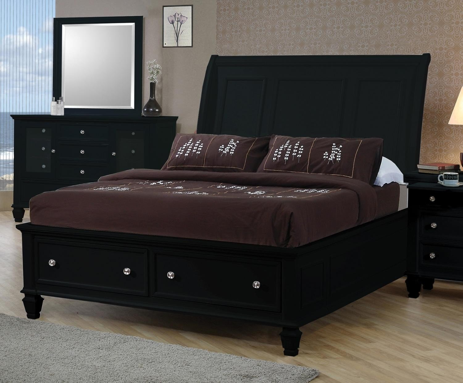 Best Cindy Crawford Bedroom Furniture Home Palm Springs Gray With Pictures