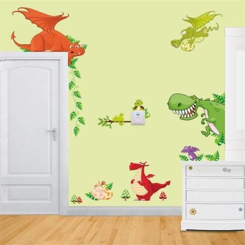Best Diy Removable Dinosaur Park Decal Home Kids Bedroom Decor With Pictures