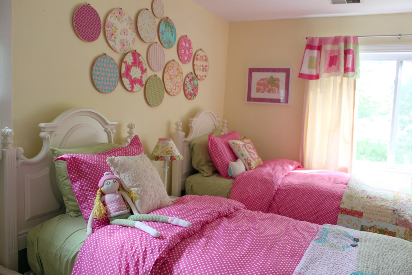 Best Decorating Girls Shared Toddler Bedroom The Cottage Mama With Pictures
