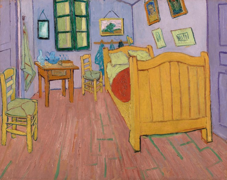 Best Arts Food Closely Looking At Van Gogh S Bedroom At Arles With Pictures