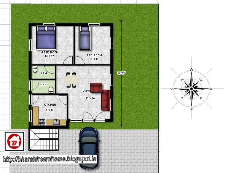 Best Bharat Dream Home 2 Bedroom Floor Plan 800Sq Ft East Facing With Pictures