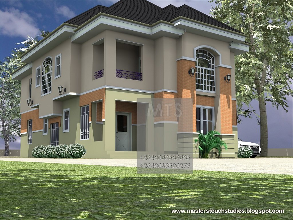 Best Mrs Ifeoma 4 Bedroom Duplex Modern And Contemporary Nigerian Building Designs With Pictures