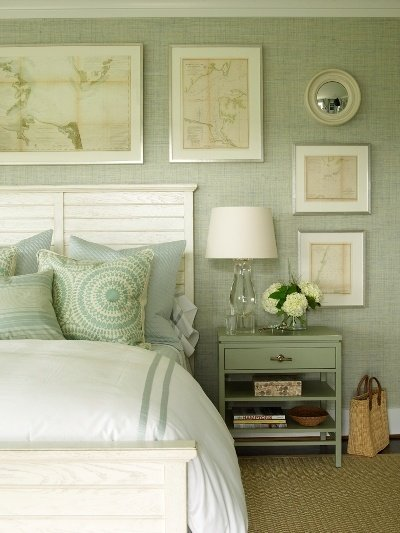 Best The Glam Pad 50 Gorgeous Green And White Bedrooms With Pictures