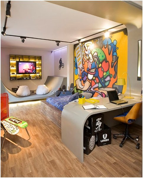 Best Skateboarding Bedrooms For Teenagers Skate And Graffiti With Pictures