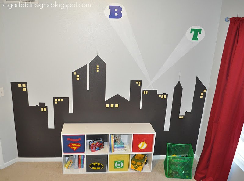 Best Sugartotdesigns Boys Superhero Room Reveal With Pictures