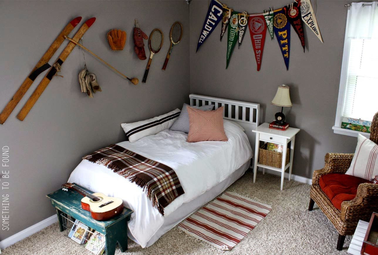Best Something To Be Found This Vintage Sports Bedroom Is With Pictures