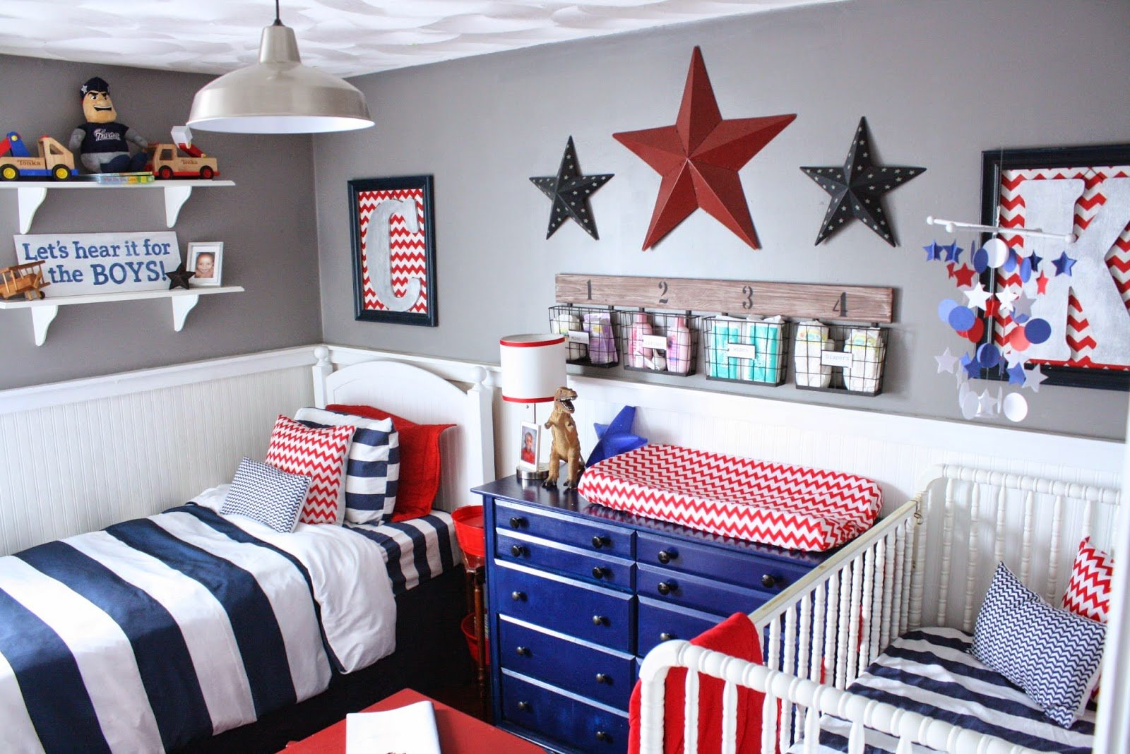 Best Fearfully Wonderfully Made Shared Boys Room Nursery Reveal With Pictures