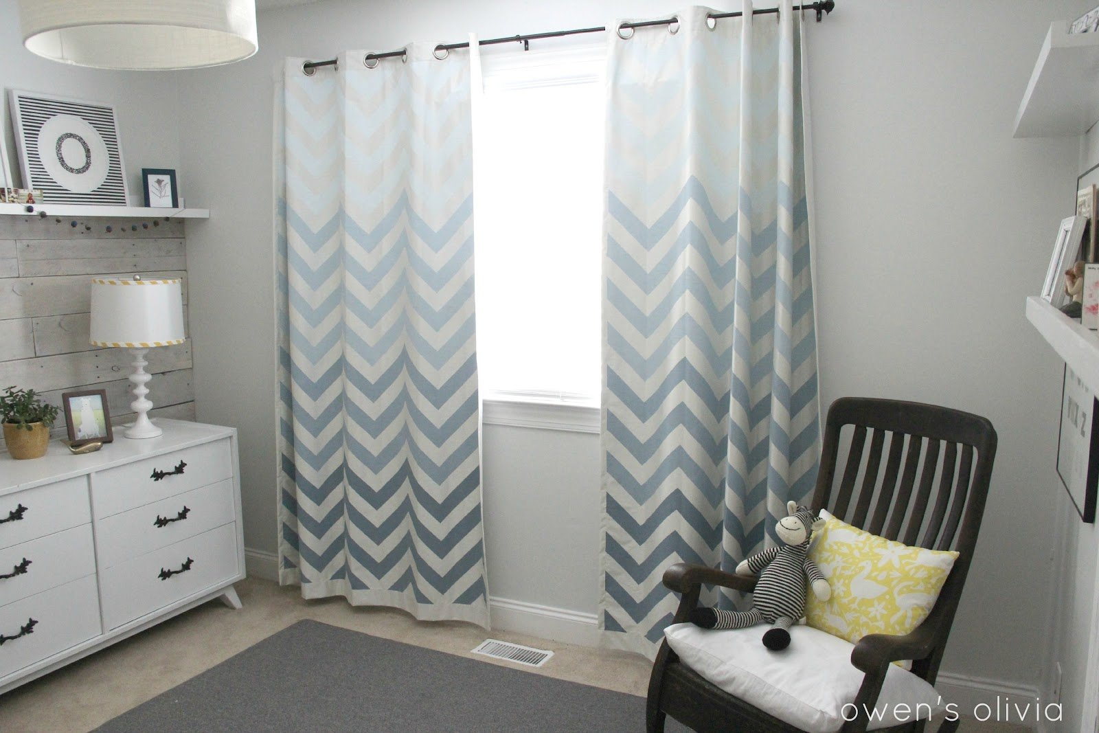 Best Ombre Chevron Curtains In Boys Nursery With Pictures