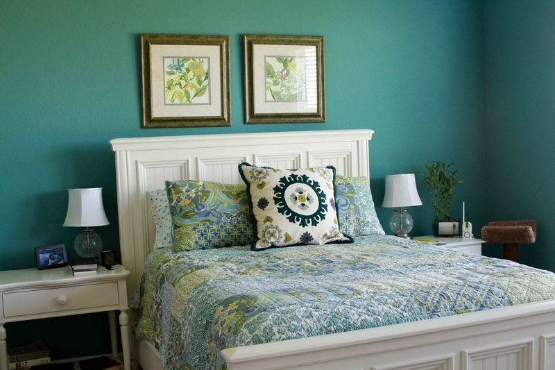Best Turquoise Cream Bedroom Home Design Online With Pictures