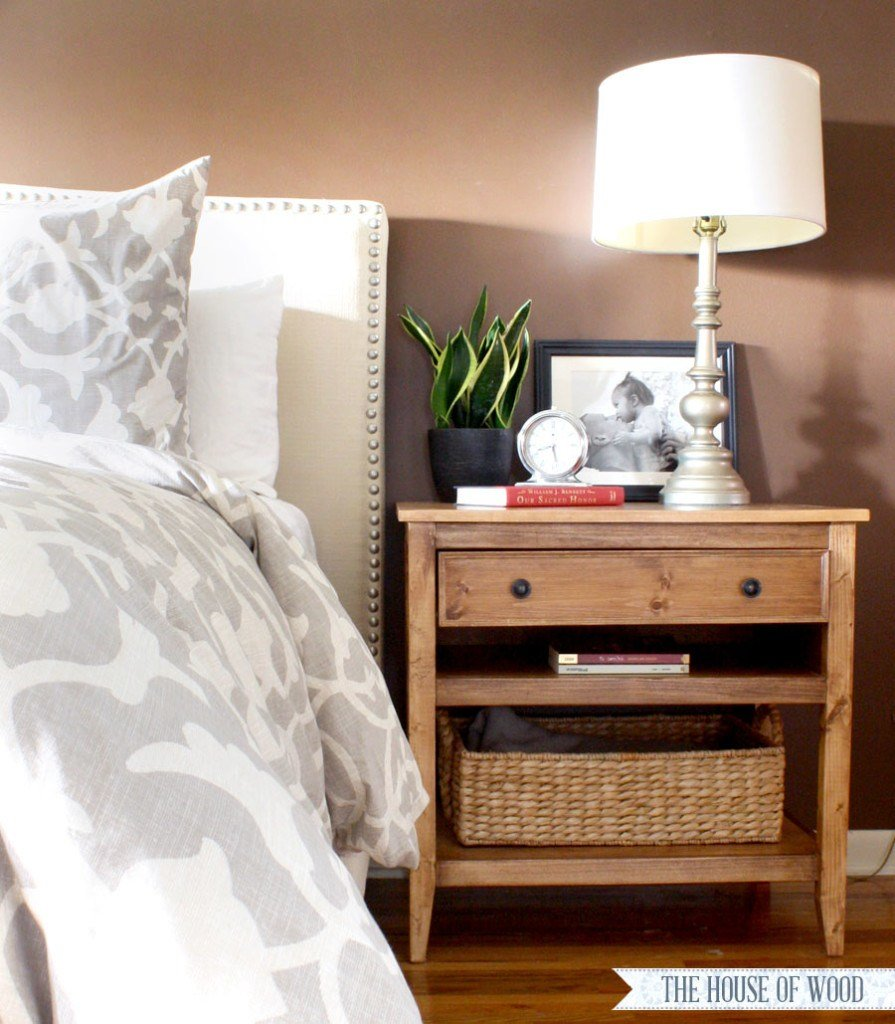 Best Diy Bedside Table With Drawer And Shelf Free Plans With Pictures