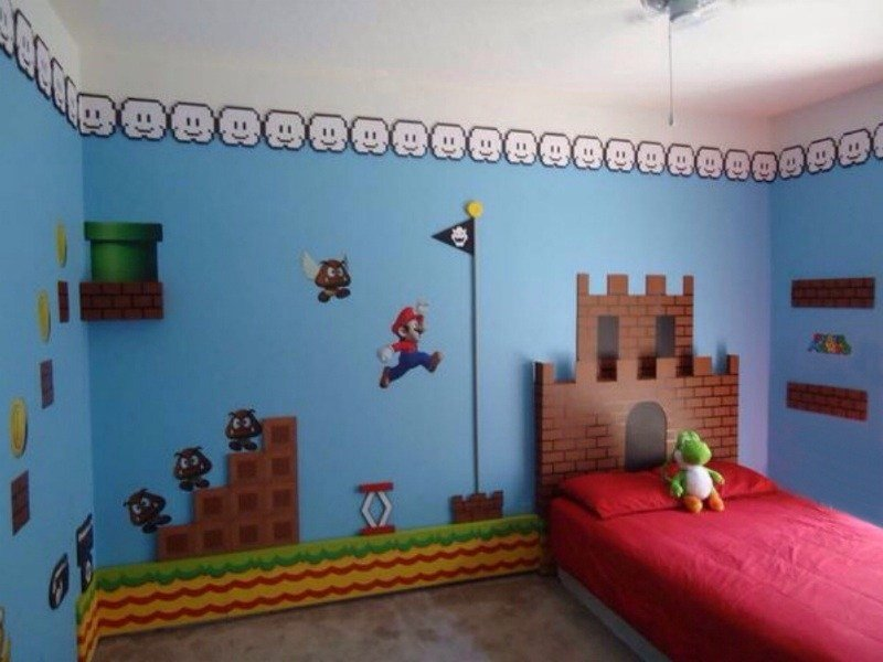 Best Super Mario Bros Theme Bedroom Theme Room Design With Pictures