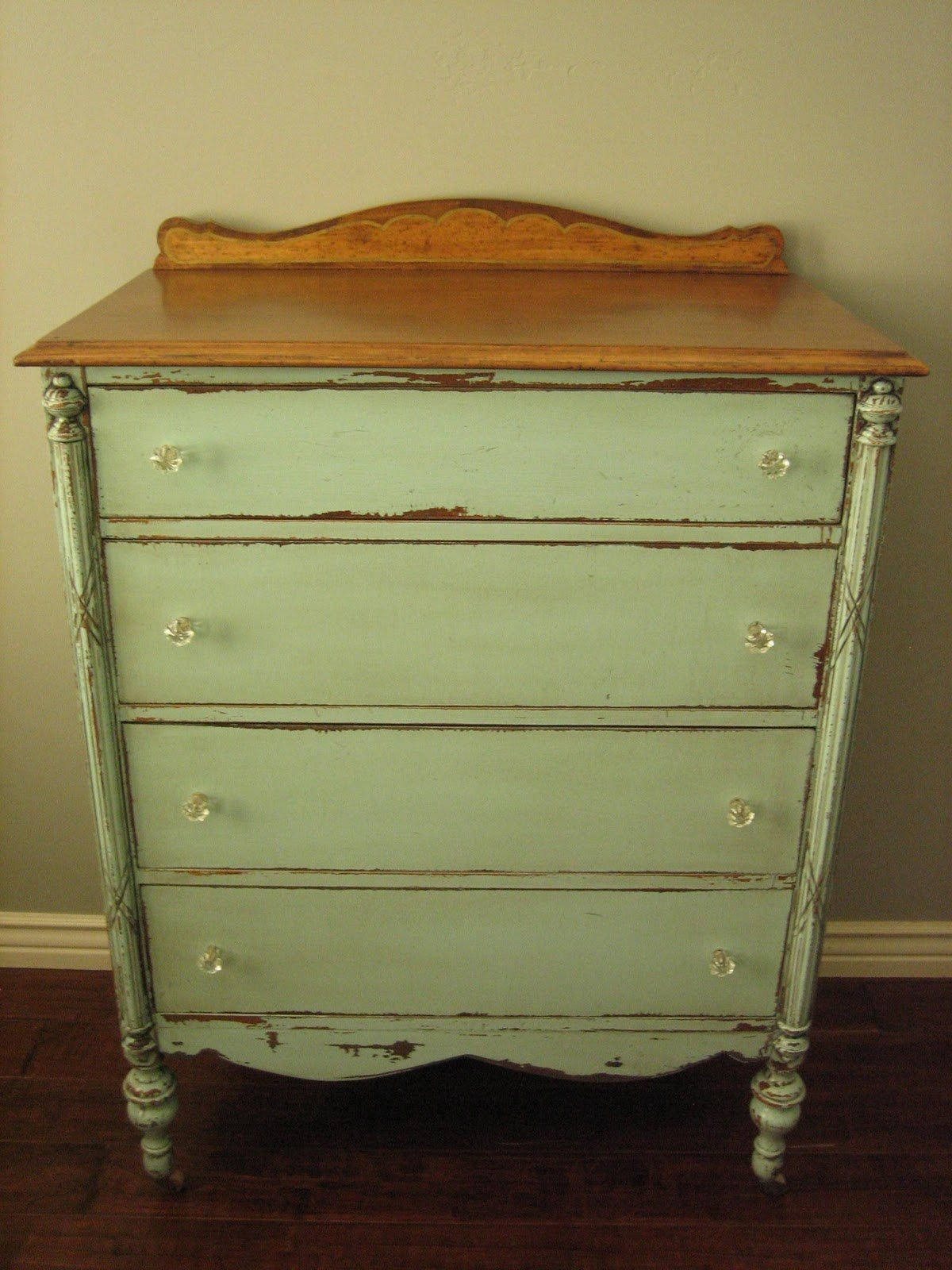 Best European Paint Finishes Cottage Green Dresser With Pictures