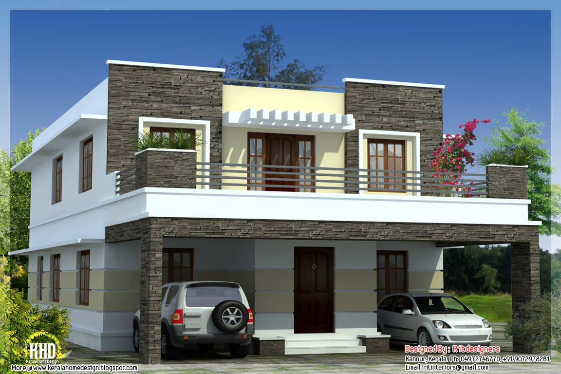 Best 3 Bedroom Modern Flat Roof House Kerala Home Design And With Pictures
