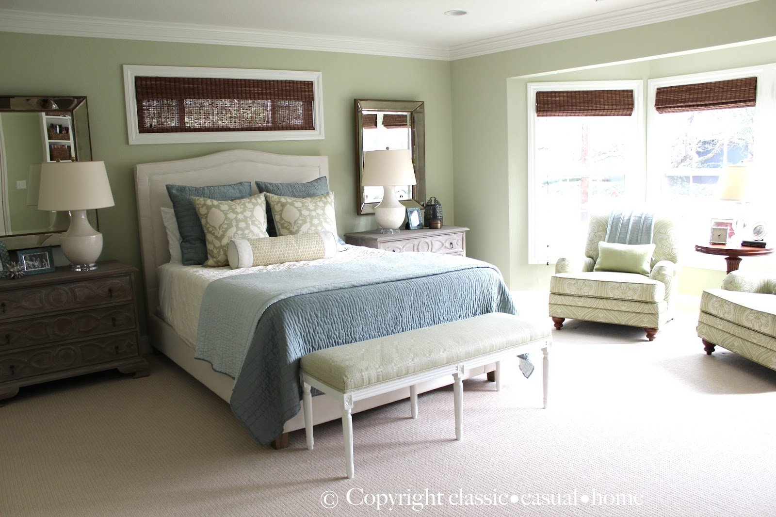 Best Classic • Casual • Home Soft Green And Aqua Blue Master Bedroom Before And After With Pictures
