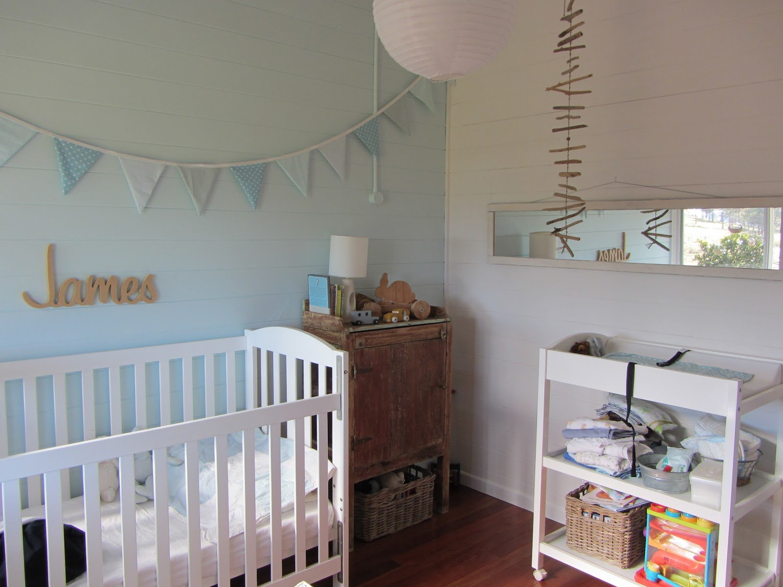 Best Thom Haus Handmade Soft Colours For A Baby Boy's Bedroom With Pictures