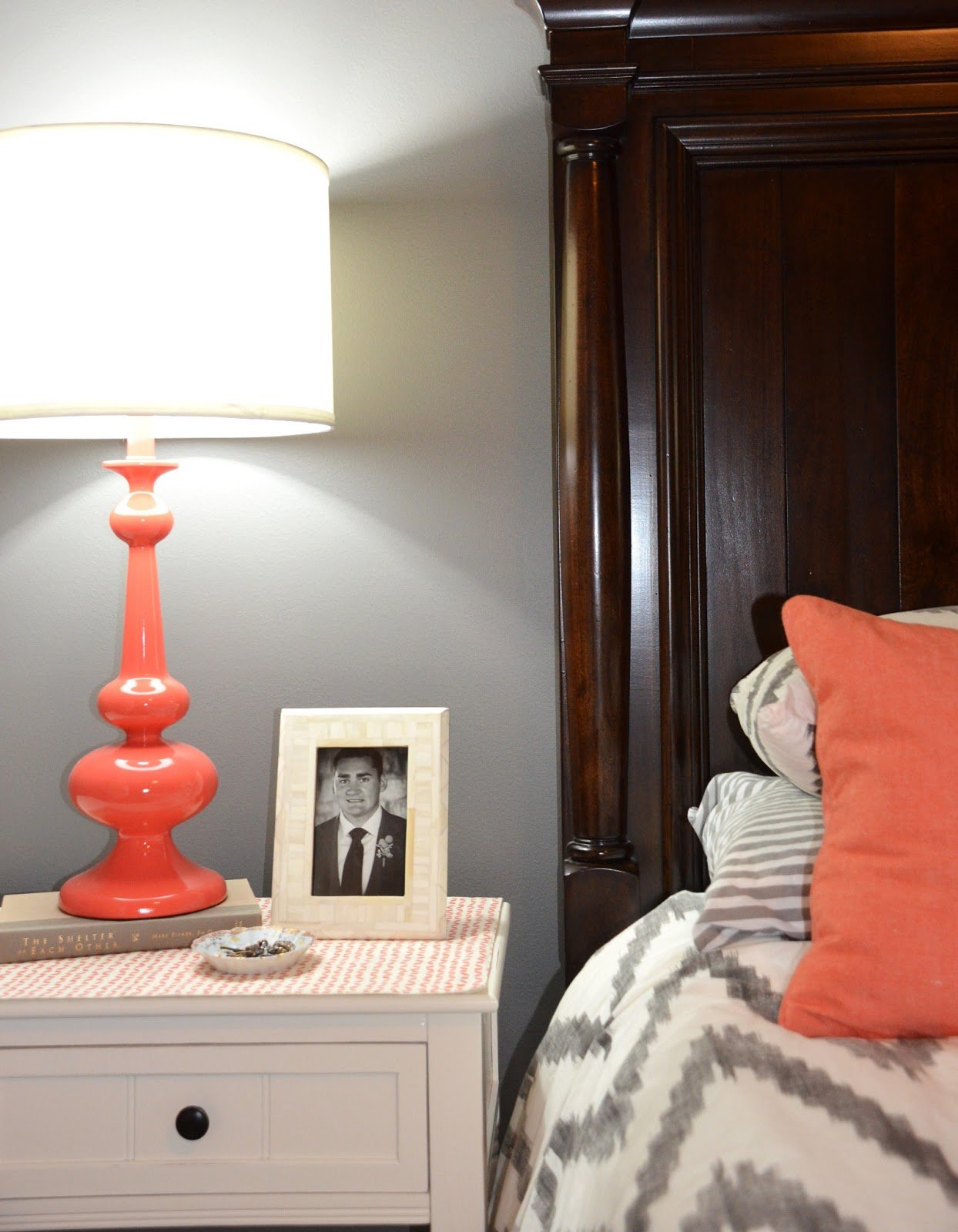Best Jessica Stout Design Coral Gray Master Bedroom My Home With Pictures