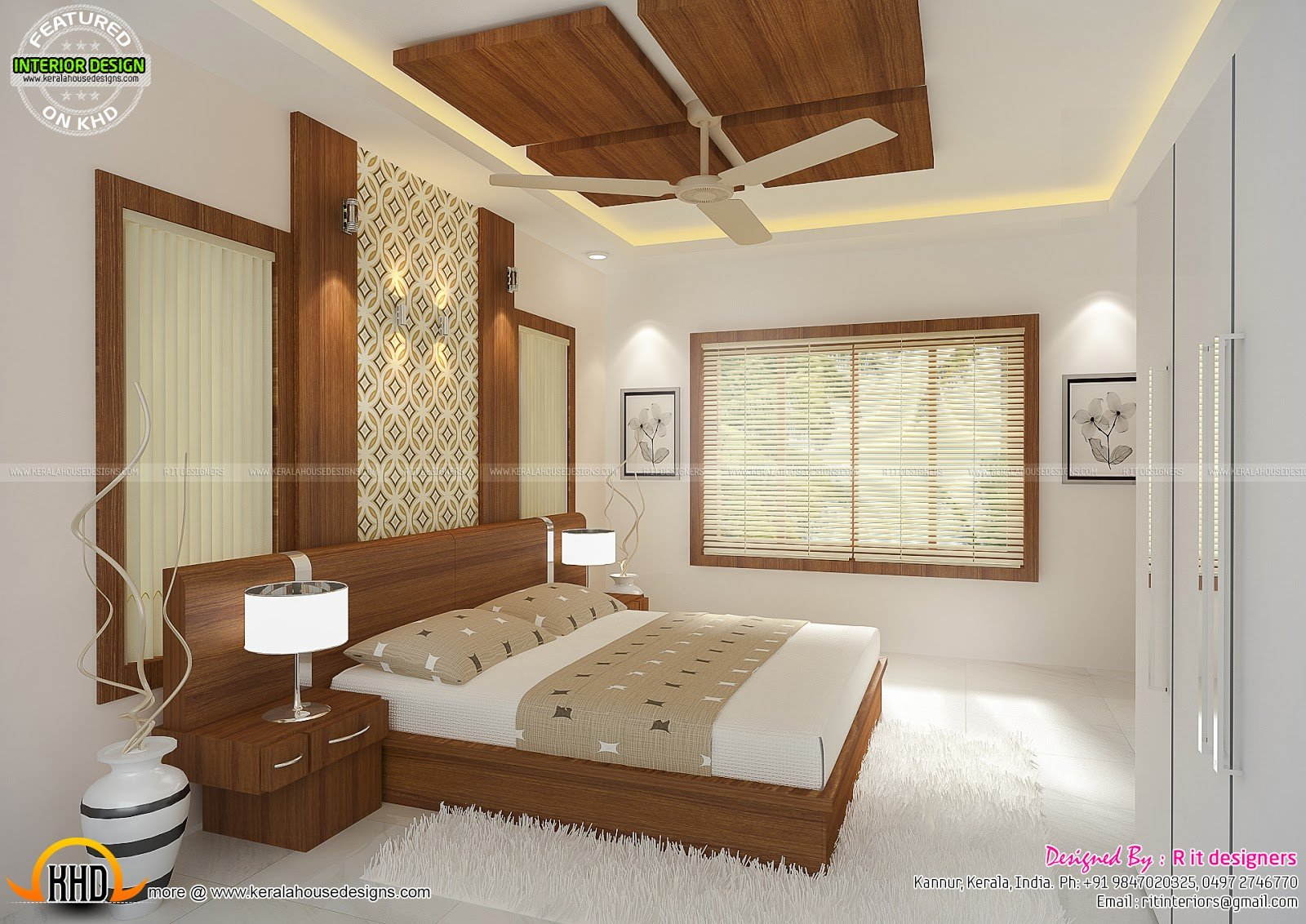 Best Interiors Of Bedrooms And Kitchen Kerala Home Design And With Pictures