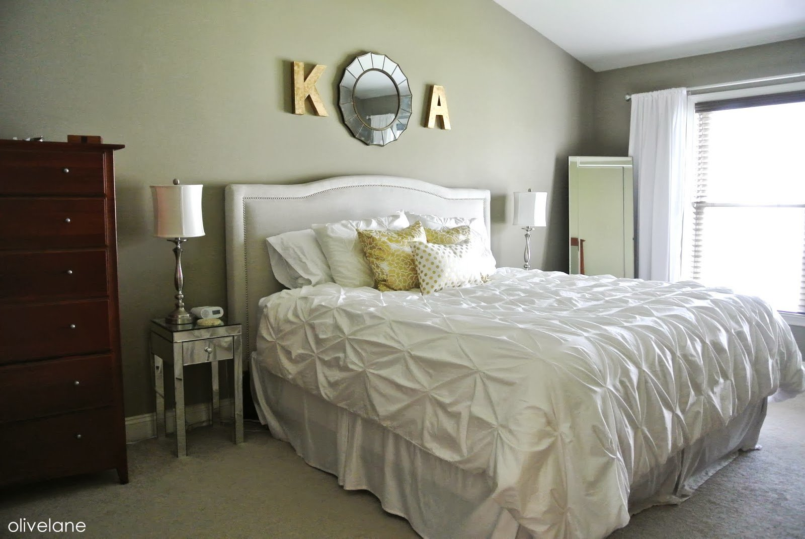 Best Olive Lane Master Bedroom Update Gold White With Pictures