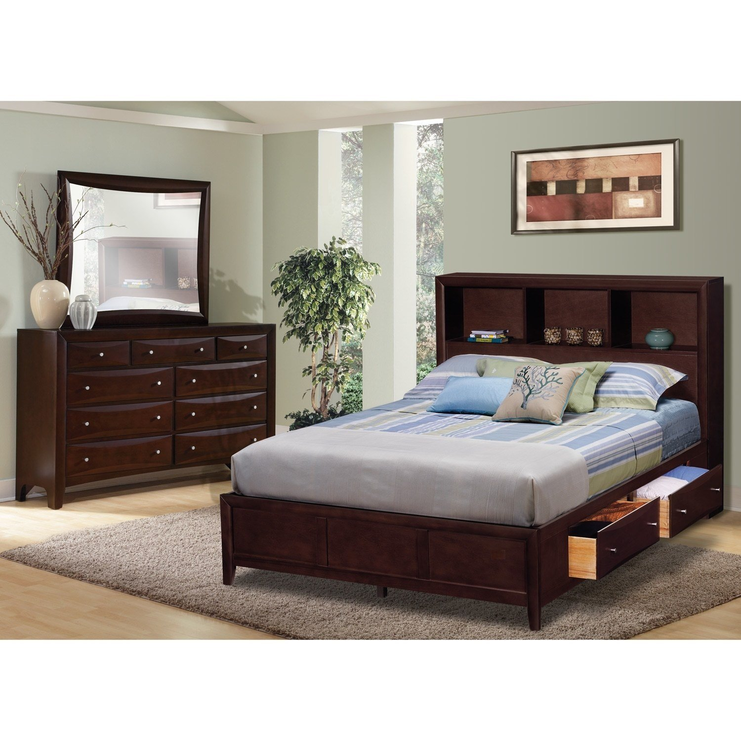 Best Kensington 5 Pc King Wall Bedroom Furniture Com With Pictures