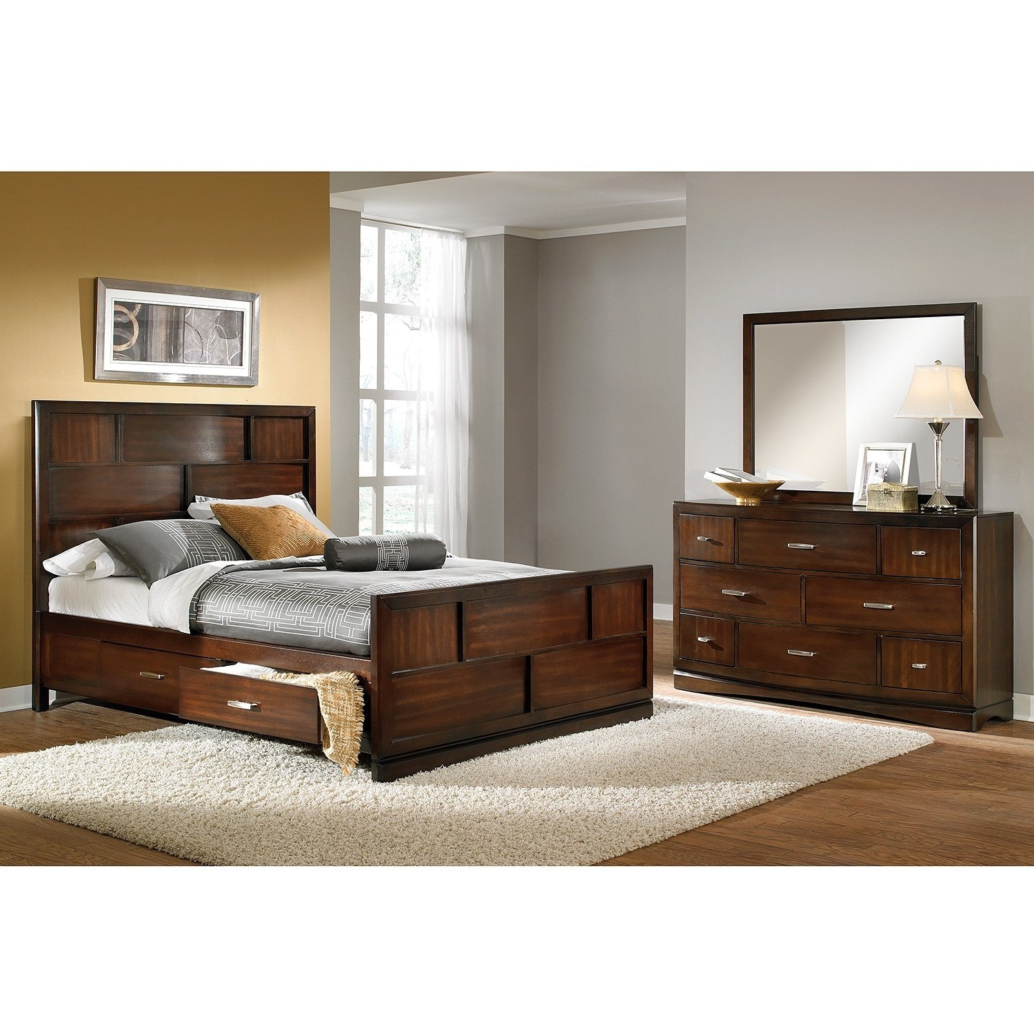 Best Toronto 5 Pc Queen Storage Bedroom Value City Furniture With Pictures