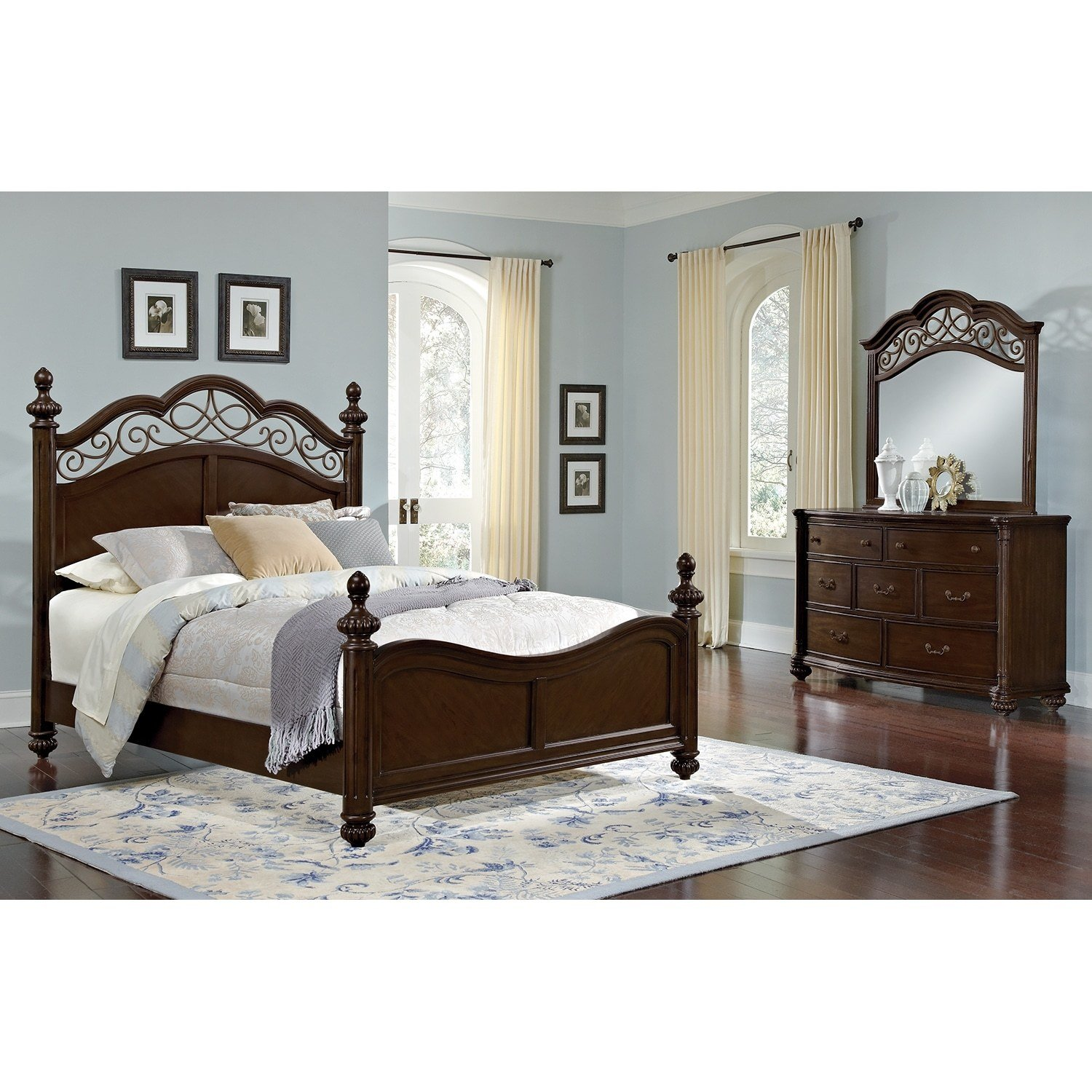 Best Derbyshire Bedroom 5 Pc King Bedroom Value City Furniture With Pictures