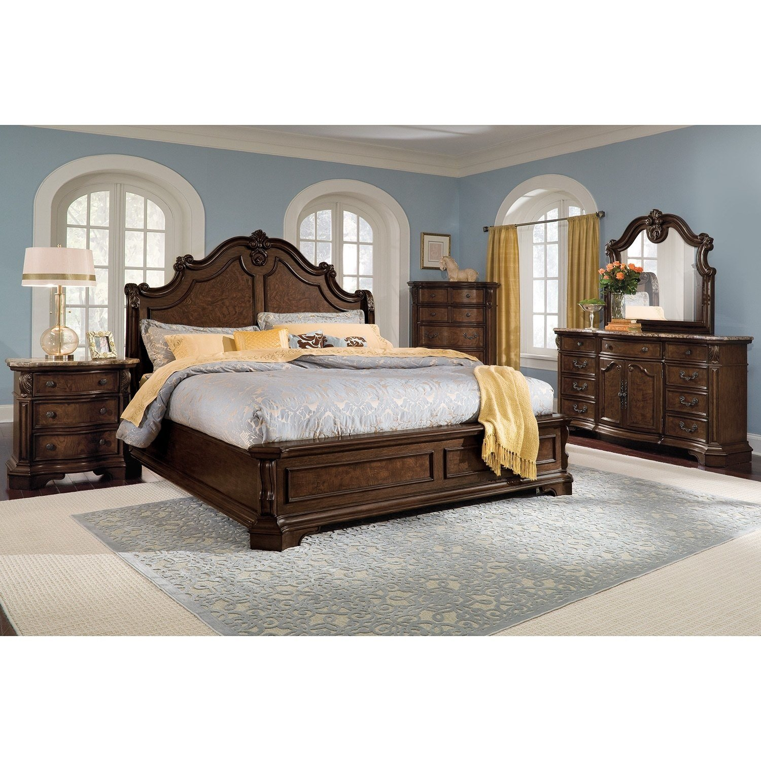 Best Monticello Nightstand Pecan American Signature Furniture With Pictures