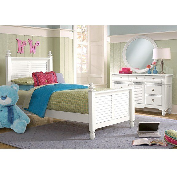 Best Seaside White 5 Pc Twin Bedroom Value City Furniture With Pictures