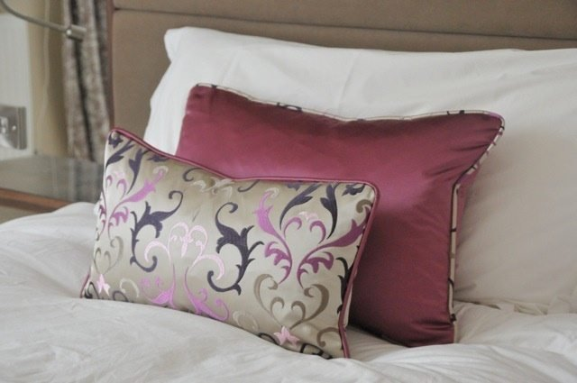 Best Bedroom Cushions Pink Beige Patterned Sophie Sews With Pictures