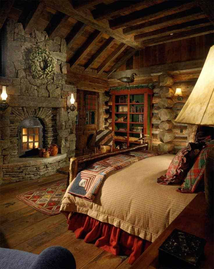 Best 38 Rustic Country Cabins With A Stone Fireplace For A With Pictures