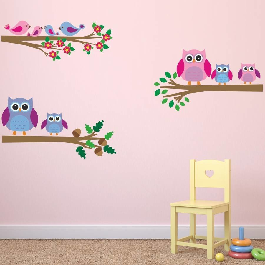 Best Owls And Birds Branch Wall Stickers By Mirrorin With Pictures