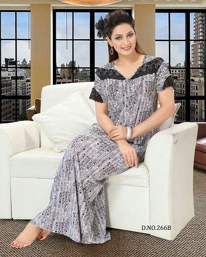 Best Hot Sleep Wear Printed Nighty Women Bedroom Gown Lounge With Pictures