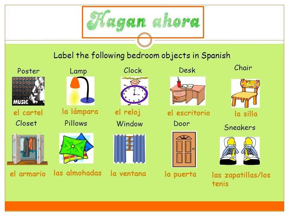 Best Label The Following Bedroom Objects In Spanish Ppt Descargar With Pictures