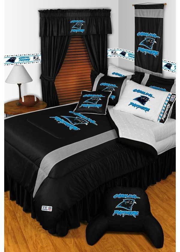 Best 5Pc New Nfl Carolina Panthers Comforter Bed Sheets With Pictures