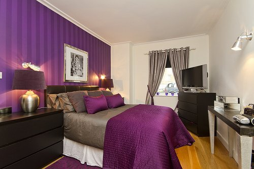 Best Purple Bedroom Decor Ideas With Grey Wall And White Accent Home Interior And Decoration With Pictures